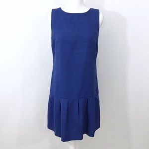 Loft Blue Drop Waist Peplum Shift Dress
